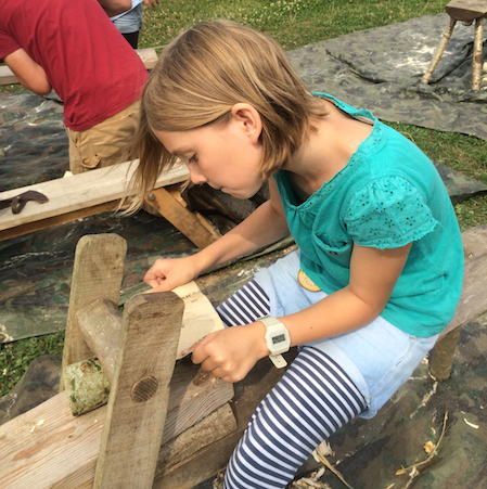 GREEN WOODWORKING - Transform a piece of wood into a useful object. You will learn how to use ancient wooden machines like the shave horse and traditional hand tools to cut, carve and shape green wood.
