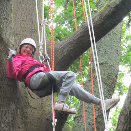 TECHNICAL TREE CLIMBING - learn a technical tree climbing technique using a rope and harness to safely ascend the big Beech tree 'David Attenborough style' and see the woods from a whole new perspective.