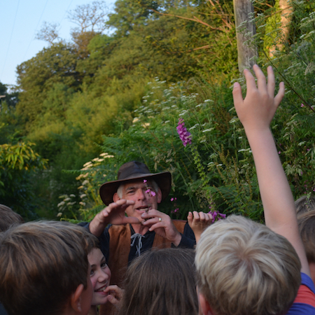 MEET THE WOODSMAN - we may be lucky enough to bump into the woodsman. He's always eager to pass on his knowledge and will share  many secrets of the woods, opening our eyes to the plants, insects and animals which thrive here.