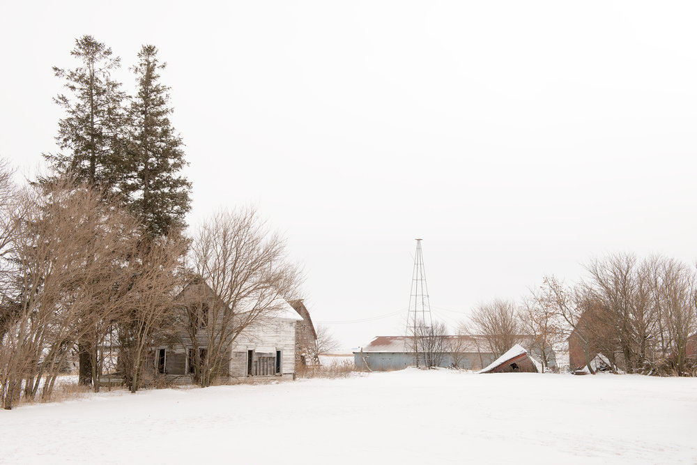 Vacant farmstead north of town - 2014   Uprooted