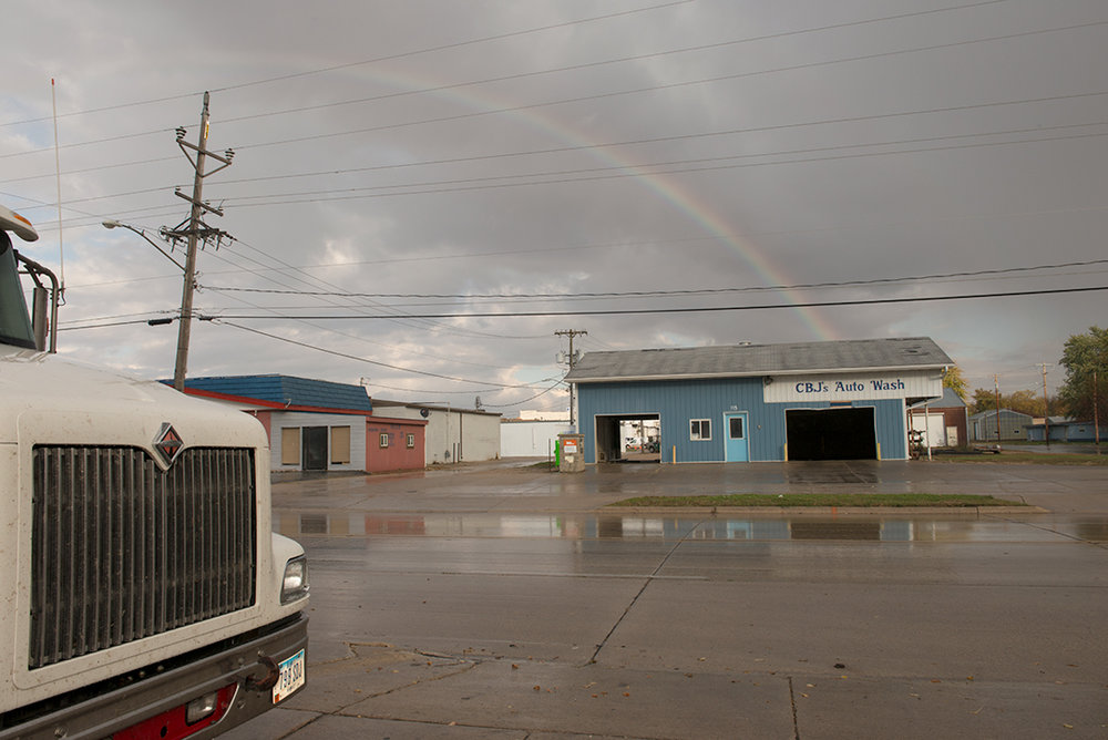 Rainbow east of Highway 69, 2013