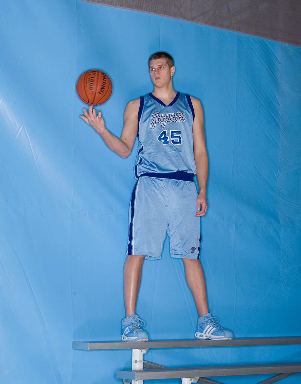 Bloomington Jefferson High School stand out Cole Aldrich photographed for  Slam magazine