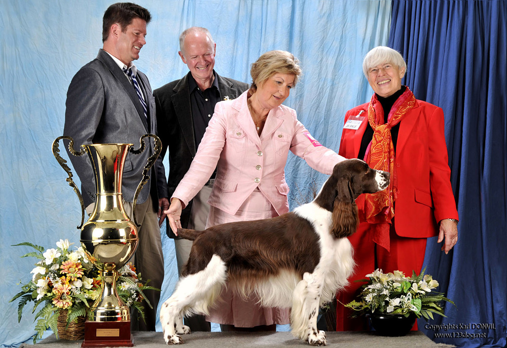 Charlie winning BIS Luxembourg International Show