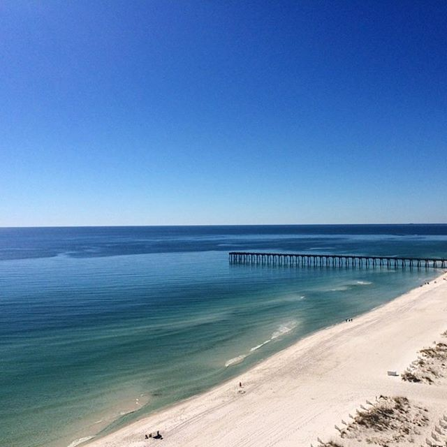 Guess where this gorgeous emerald green water & sugar white sand can be found. I'll give you a hint. It's the backdrop to this year's Dreamers Brunch! I can't hold water and this is like the best news ever so I'm making a mini-announcement this morning! The 2015 Dreamers Brunch is heading to the beach - the Hilton on Pensacola Beach ( @hiltonpensacolabeach ) to be exact and there's gonna be an overnight option for dreamers who really want to pack their weekend with inspiration. Details coming August 1st. Now I'll worry about not spilling the news about the monogrammed robes... Oops! #hellodreamers #dreamersbrunch #hdevents