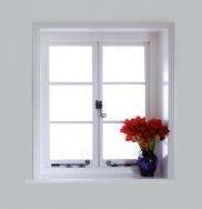 Fenster aus Kunststoff und Holz