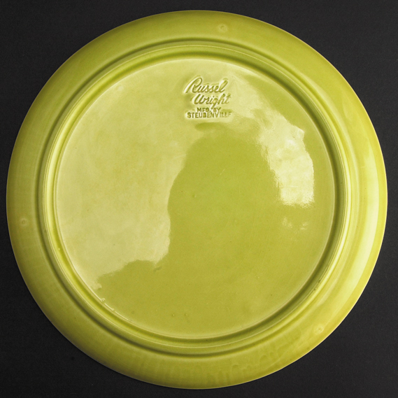 Chartreuse American Modern Dinner Plate, 1939