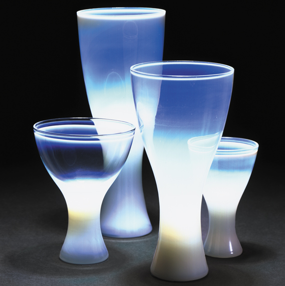Opaline Glassware from Theme Formal Dinnerware