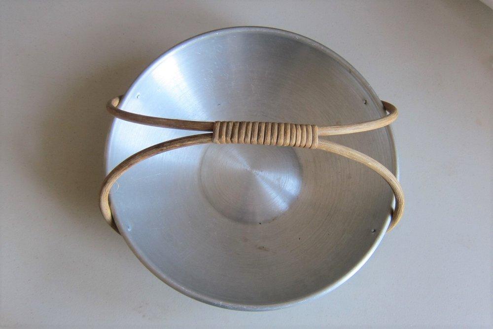 Spun Aluminum, Fruit Basket, 1933