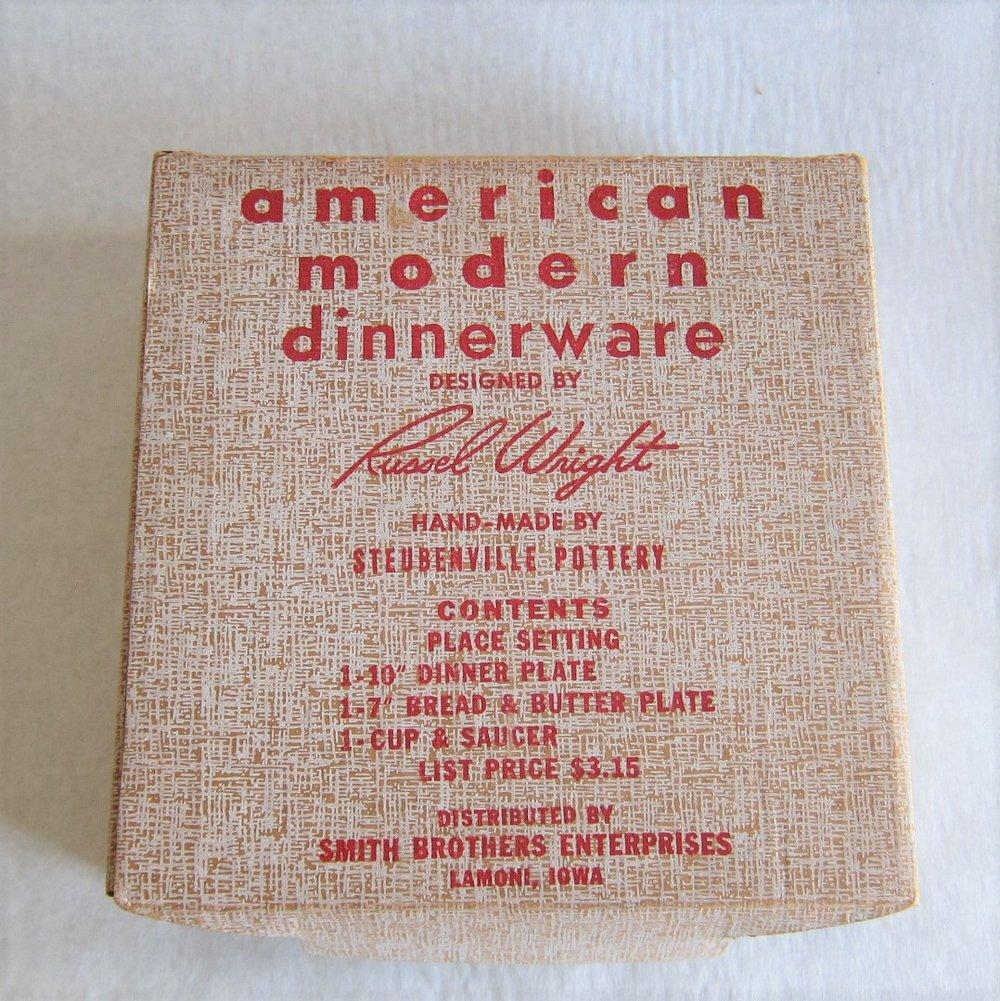 American Modern, Original Box, 1939