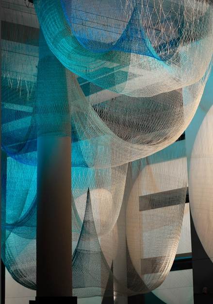 Allegory , Janet Echelman, Eugene, OR, 2014  Project Manager and Designer