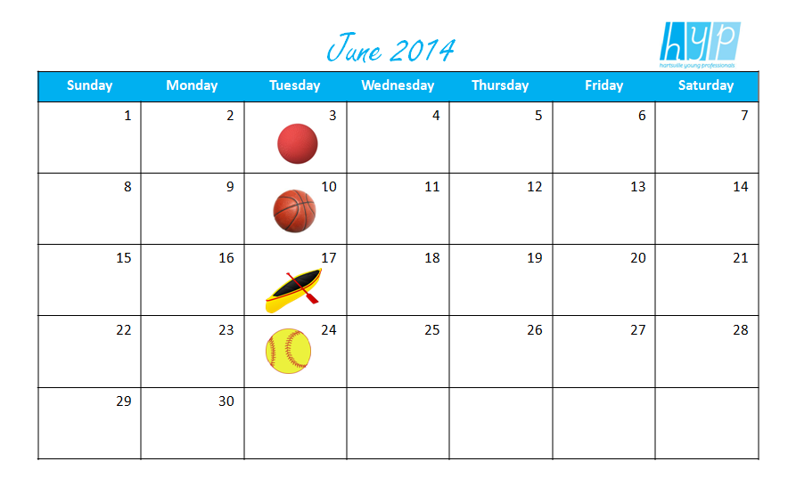 HYP June Calendar