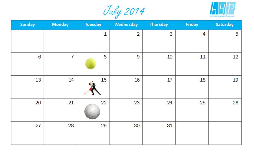 HYP July Calendar