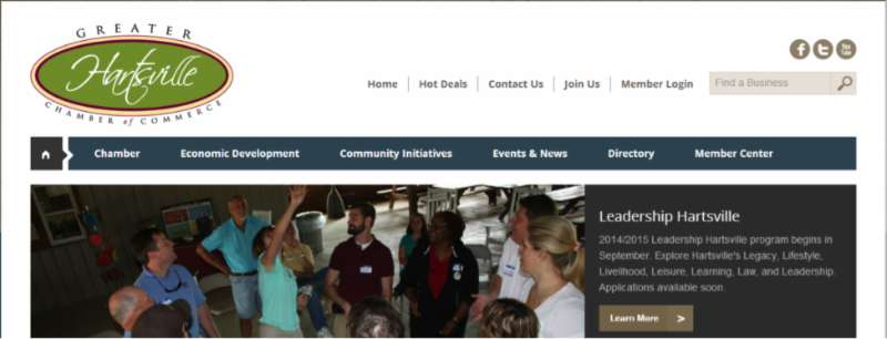 Check out the new website at www.hartsvillechamber.org