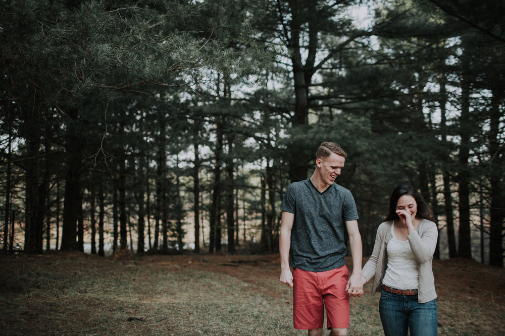 forest-rustic-engagement-wisconsin-b&n-4.jpg