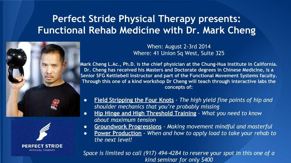 Perfect Stride Physical Therapy presents: Functional Rehab Medicine with Dr. Mark Cheng