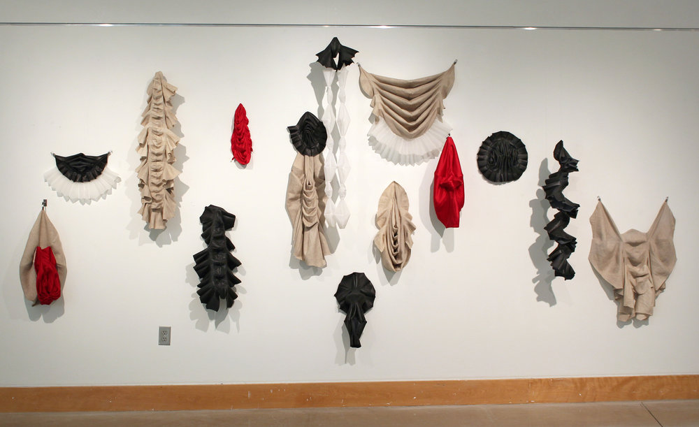 installation of Descendants at Owens Community college's Walter E. Terhune Gallery as part of the group show Wonderland with Heather Accurso, Adrian Hatfield, Andy Krieger, Michael McGillis, and Sarah Rose Sharp.