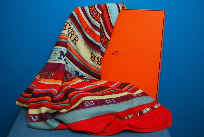 Hermes  silk and cashmere shawl, $745.50