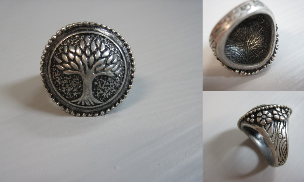 """I picked up this Tree of Life ring at a craft fair in Shepherdstown, W.V. and I loved it because of all the small details - inside and out."