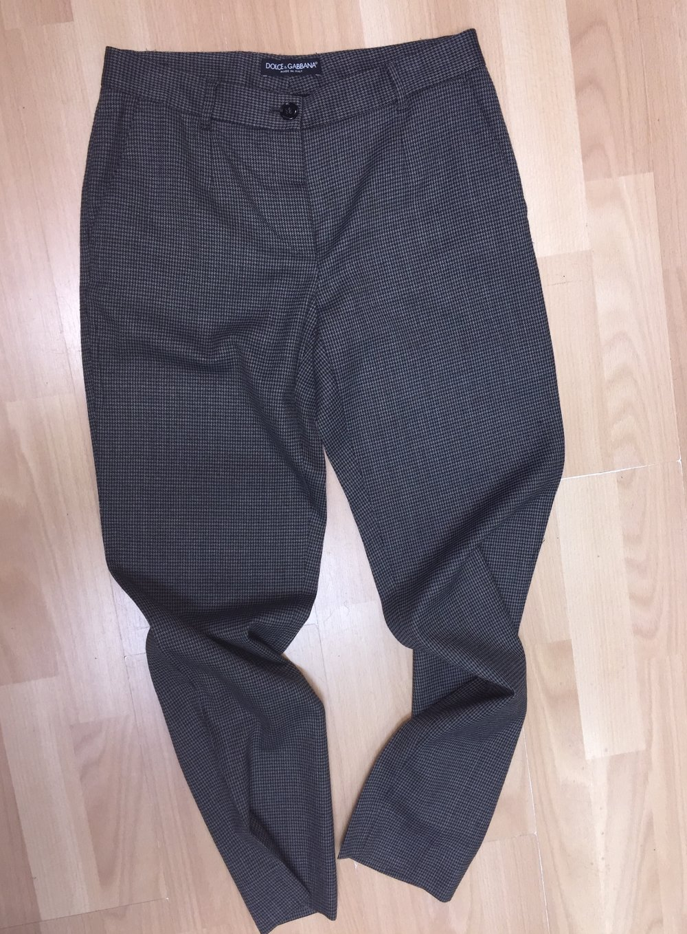 DOLCE & GABBANA - Grey, charcoal and black wool pants, size 6/8. $77.00