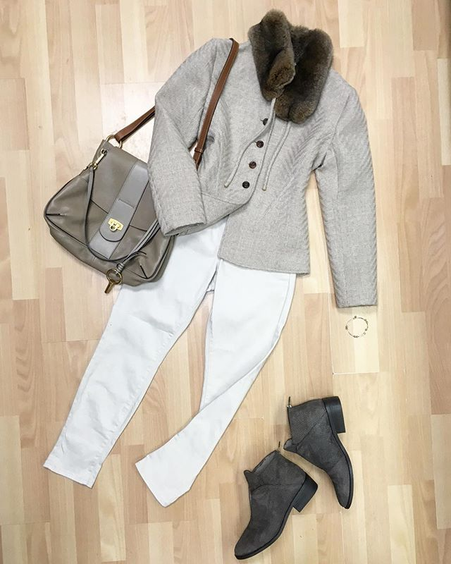 Mix of neutrals and textures: @maisonvalentino jacket, @eileenfisherny leather boots, @chloe bag, all available online now and in stores. Go to newtoyou.net  #valentino #eileenfisher #ootd #winterstyle #style #styleblogger #styleinspo #stylish #outfits #outfitinspo #chloe #fashion #fashionblogger #designerconsignment #consignmentboutique #consignment #consignmentshop