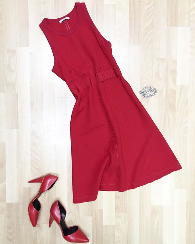 Valentine's Day outfit idea #2 - @prada red dress with Trouve d'orsay heels and a mix of bracelets. All available online or in store now! #prada #trouve #tiffany #ootd #outfitinspo #outfit #outfits #valentines #valentine #fashion #fashionstyle #style #styleinspo #shopsmall #consignmentboutique #styleoftheday #designerconsignment