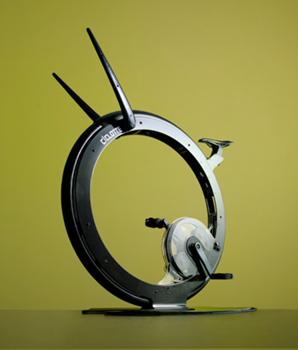 The  Ciclòtte Stationary bike  designed by   Luca Schieppati looks like it belongs in a museum…..it  would definitely upgrade your home gym. I think i might even go as far as calling it beautiful.