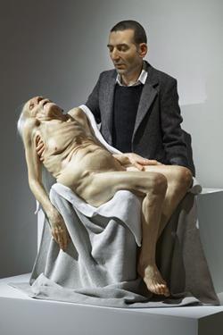 Sam Jinks,Still Life (Pieta),silicon, paint & human hair,2007