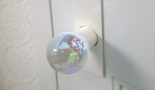 Glass Door Knob Lets You See What's in the Room Behind It