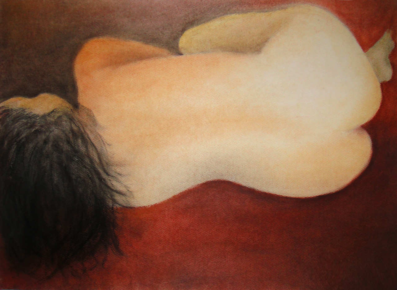 """Insecurity [after Ingres]"" Pastel on paper, 20""x15"" Needs more work"