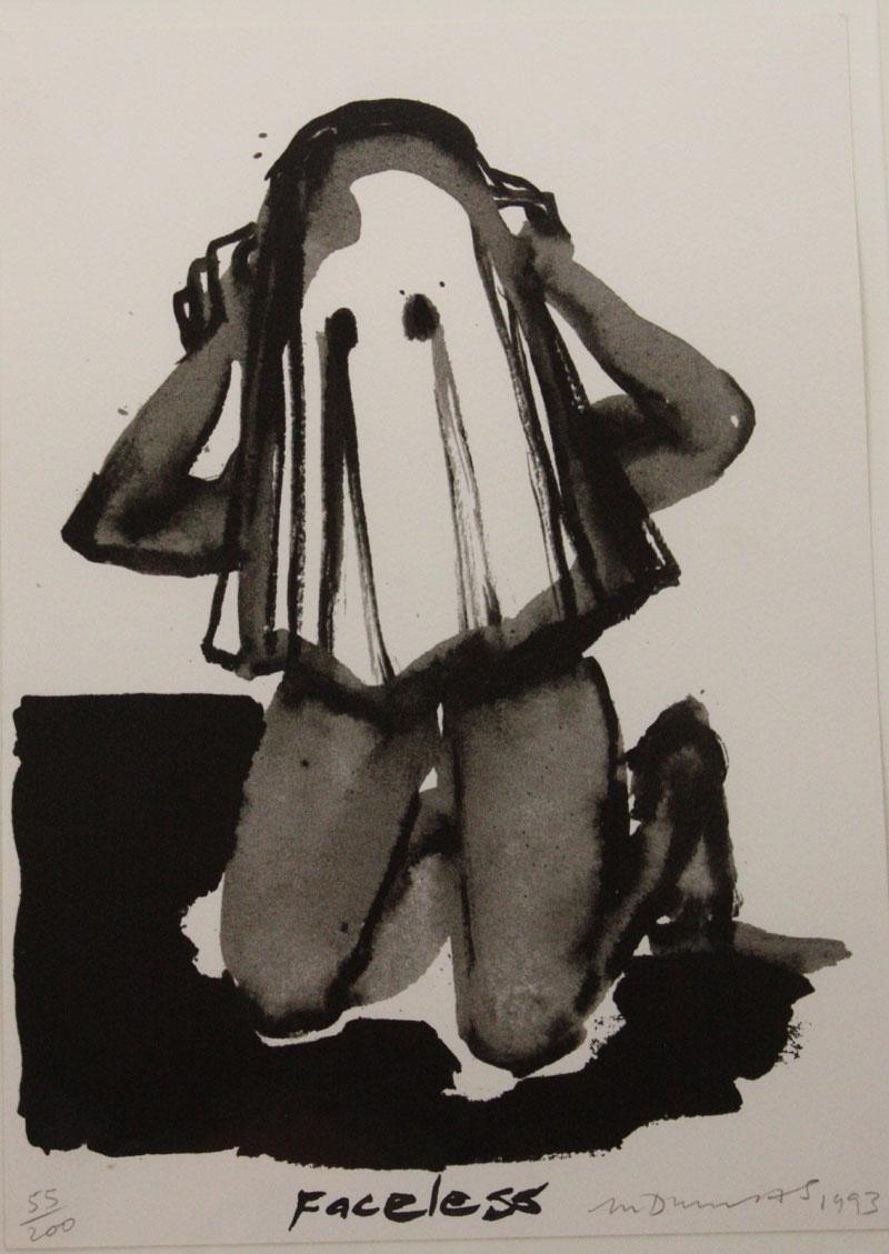 Marlene Dumas ,  Faceless , 1993.