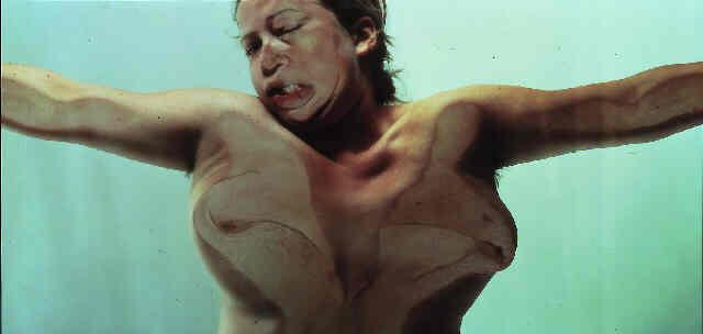 Jenny Saville ,  Closed Contact #13 , Oil over canvas.