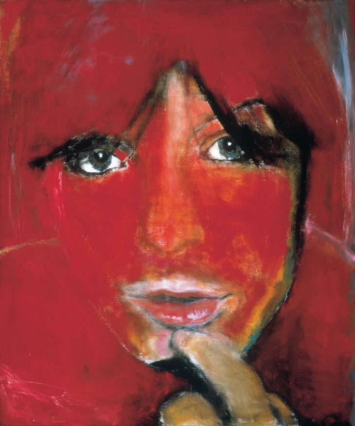 Marlene Dumas, Jule-die Vrou, Oil on canvas, 1985