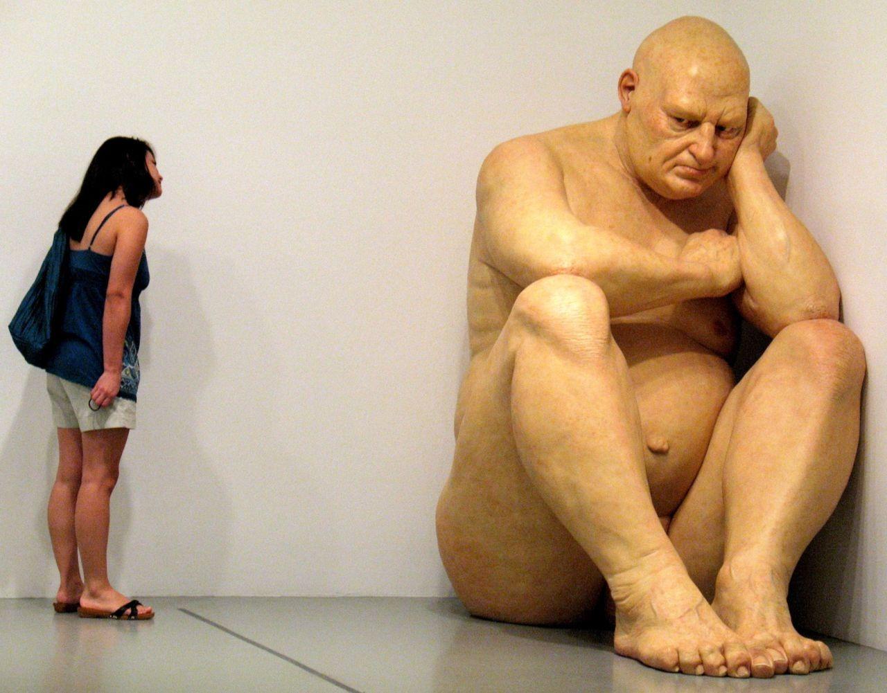 Ron Mueck ,  Untitled (Big Man) .