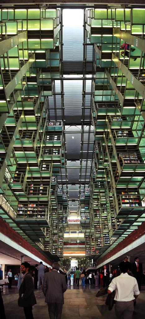 Jose Vasconcelos Library in  Mexico City .