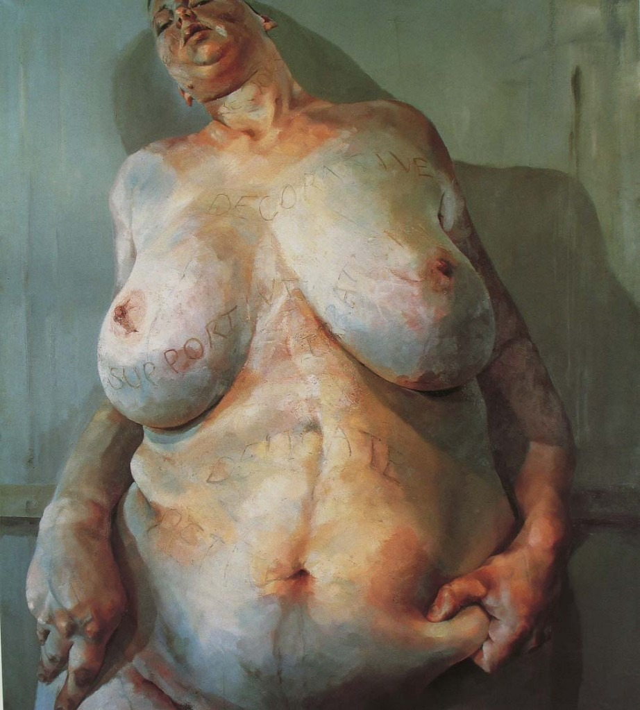 Jenny Saville, Female, oil on canvas.