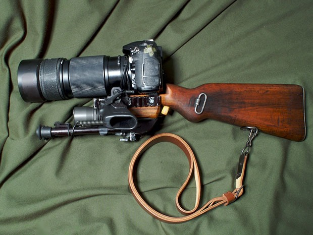 Nikon D200 on Steroids: Tactical Camera Long Range Assault Stock