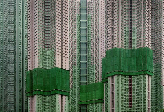 Architecture of density  (Hong Kong) by photographer  Michael Wolf  .