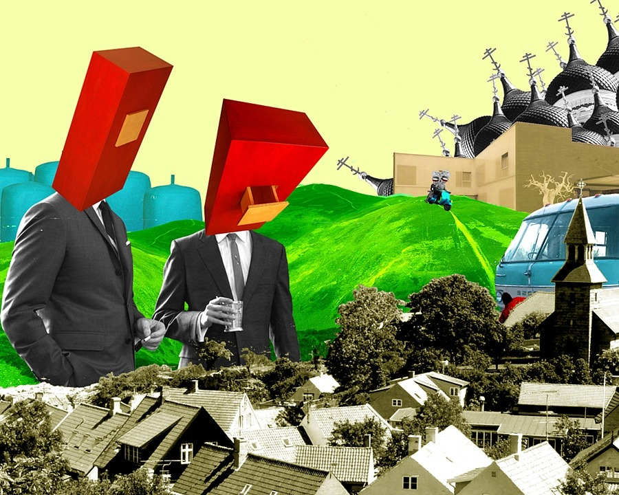 Untitled No 17  . Digital collage by   Adriean Auguste Koleric  .