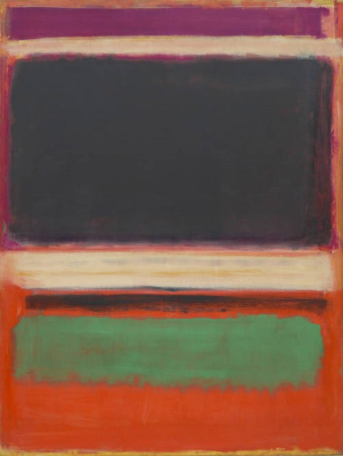 No. 3/No. 13 - Mark Rothko, 1949.   Abstract Expressionism - Oil on canvas, 216.5 x 164.8cm.   Museum of Modern Art, New York City.
