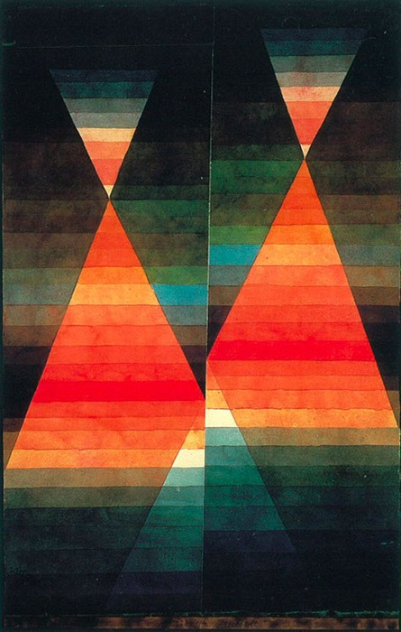 Paul Klee.  Double Tent. 1923. Water color and pencil on paper. 50.6 x 31.8 cm. Private Collection. © 1999 VG Bild Kunst Artists Rights Society (ARS), New York.