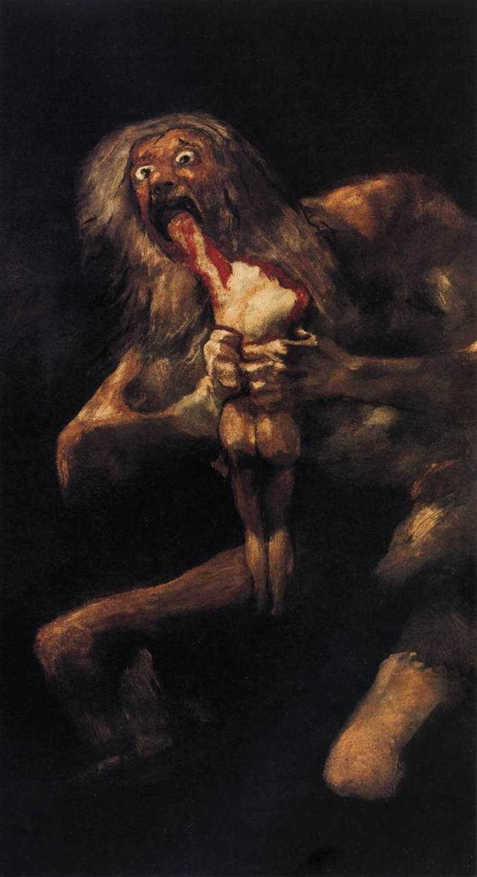 Francisco Goya, Saturn devouring his son.  One of my favorite painters
