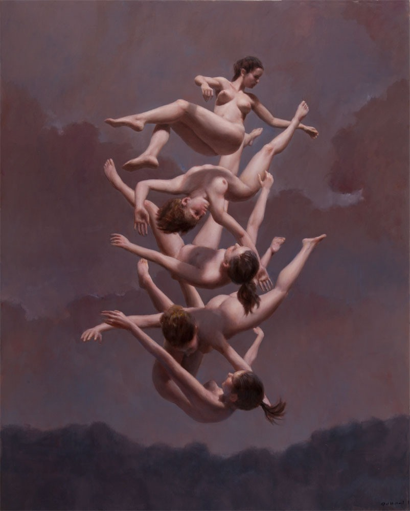 "Harry Holland     ""Falling""    Oil on Canvas   102 x 81 cm (40 x 32 in)"