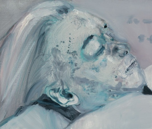 Marlene Dumas, Dead Marilyn, oil on canvas.