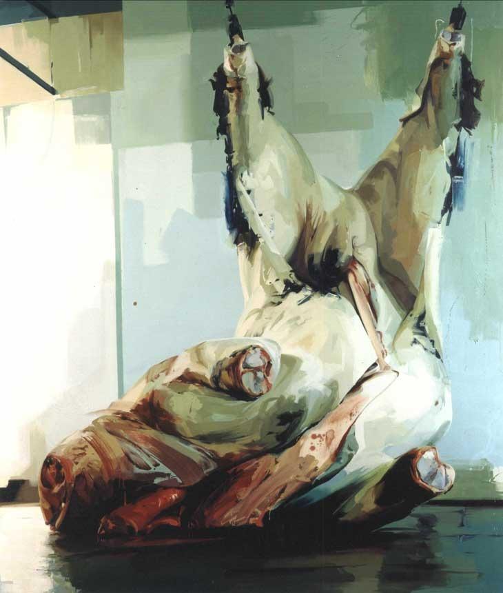 Jenny Saville, Torso 2, oil over canvas.
