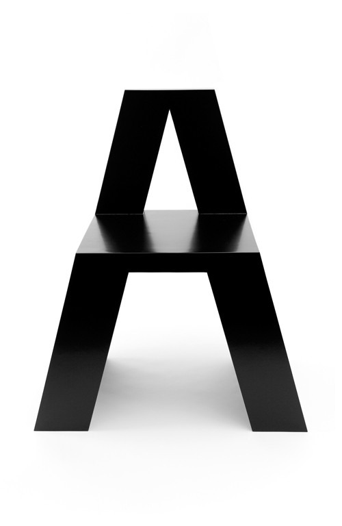 ABC CHAIRS      Some pretty cool chair designs by Roeland Otten via black-tangled-heart