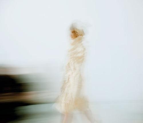 A model on the runway at Tao Comme des Garçons