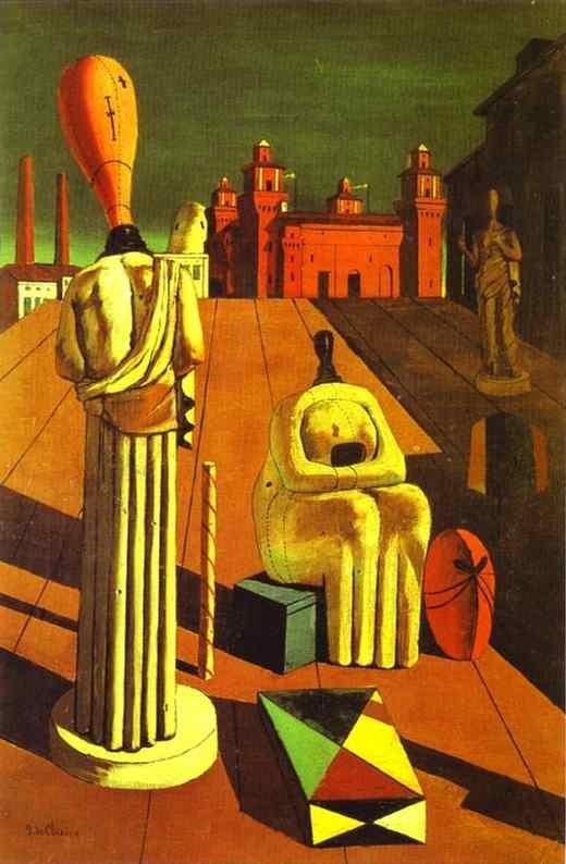 The Disquieting Muses(1918)by Giorgio De Chirico