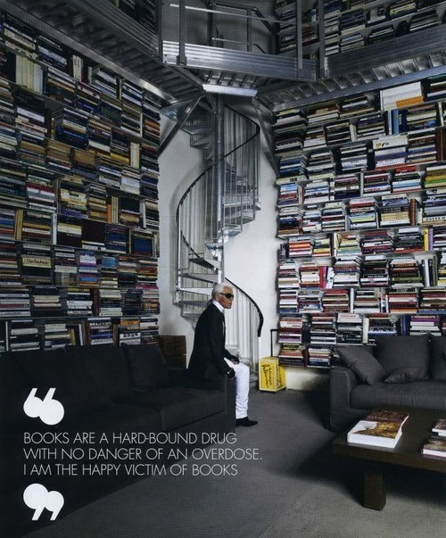 Karl Lagerfeild on Books