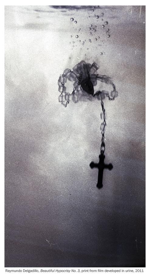 Raymundo Delgadillo, Beautiful Hypocrisy No. 3 , print from film developed in the artist's urine, 2011