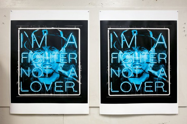 "Patrick Martinez ""Hate and Love (Fighter)"" Serigraph 